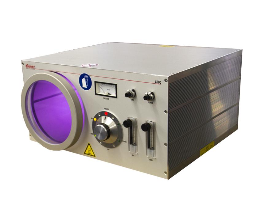 Equipo de plasma para muestras grandes con dos canales de gas de proceso