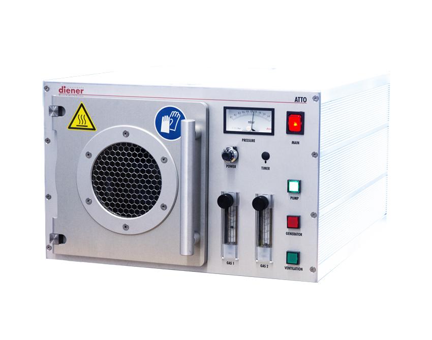 Equipo de plasma en radiofrecuencia para muestras gran tamaño con dos canales de gas de proceso y control manual